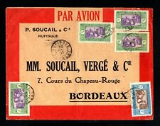 17438-SENEGAL-AIRMAIL COVER RUFISQUE to BORDEAUX(france)1935.WWII.FRENCH colonie