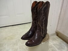 LUCCHESE LIZARD COWBOY WESTERN BOOTS WOMEN 6 B GREAT CONDITION NOT MUCH USED