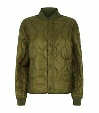Women's Ralph Lauren Polo Green Quilted Military Bomber Jacket S New
