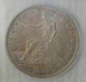 1877 Silver Trade Dollar, ICG AU53,  REALLY NICE!!!