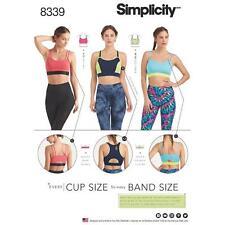 Simplicity Sewing Pattern extraña'S Tejido Deportes Bras cada Taza & Banda Tamaño 8339