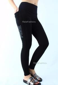 Victoria's Secret PINK High Waist Pocket Yoga Legging Cotton Black