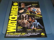 Dc Direct WATCHMEN Figures Promo Poster Ad Sheet The Comedian SILK SPECTRE