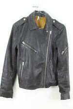 TOPSHOP Leather Jacket Size UK 6