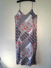 Polyester V-Neck Geometric Plus Size Dresses for Women