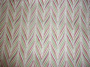 CLEARANCE 2 YARDS Yuletide Greetings Red Tan Green Quilting Cotton Fabric
