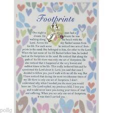 Footprints ángel guardián Pin de solapa & inspiradoras de tarjeta de mensaje regalo