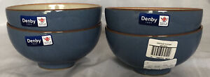 """DENBY 5"""" Heritage Fountain Rice Bowl Set Of 4 New With Tags Made In England"""
