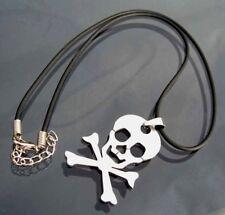 KETTE Totenkopfkette Schmuck Halskette 50cm schwarz Totenkopf EDELSTAHL K645