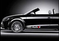 Audi Sport Seitendekor Aufkleber Sticker Quattro A3 A4 A6 TT Rs Q3 Q5 R8 Scheibe