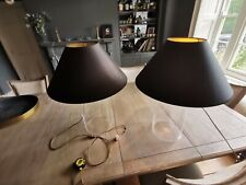 Pair Of Flamant Cyprine Glass Lamps