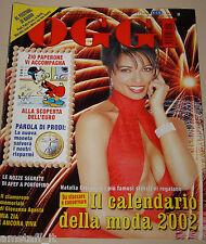 OGGI=2002/2=NATALIA ESTRADA COPERTINA + CALENDARIO=AFEF=ALESSIA FEDERICA MERZ=