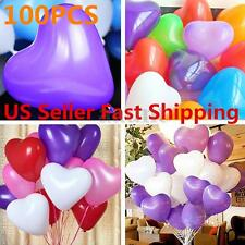 100pcs 12'' Color Heart Shaped Latex Balloons Wedding Birthday Party Decoration