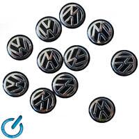 x1 Volkswagen VW negro LOGOTIPO PEGATINA EMBLEMA LOGO 14mm 3D STICKER key llave