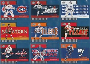 COMPLETE SET 2015-16 Upper Deck Tim Hortons Die Cuts #TH1-15 | CROSBY OVECHKIN