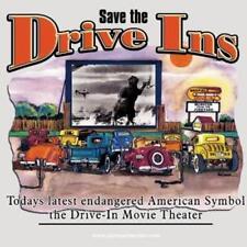 Save the Drive In T-Shirt Movie Car hop Film Sedan Hot Rod Car Ford Chevy 50s V8