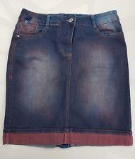 Cecil Damen JeansRock blau rot Batik Gr. 29 neuwertig