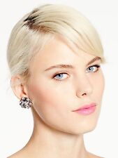 NWT BLING! Kate Spade SPACE AGE FLORAL STATEMENT EARRINGS mirror clusters