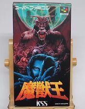 Majuu ou majyuuou Bestia rey king of demons Oh Juego Original Super Famicom * en muy buena condición