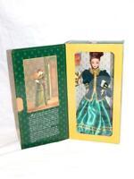 Hallmark Barbie Doll Yultide Romance Christmas NIB Historic Green Gold Gown Dres