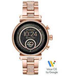 Michael Kors Access Sofie Rose Gold Tone GPS HR Touchscreen Smart Watch MKT5066