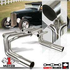 SS Long Tube Exhaust Header Manifold for Ford Model B Hi-Boy Roadster Street Rod