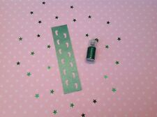 Santa's Elf Or Fairy Footprints Stencil And Dust - Ideal For Tooth Fairy - Green