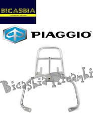 9410 - PIASTRA PORTAPACCHI CROMATA PER BAULETTO VESPA 50 125 LX 2T 4T