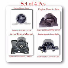 SET 4 PCS TRANS & ENGINE MOUNT KIT FITS: NISSAN ALMERA 2001-2005 L4 1.8L