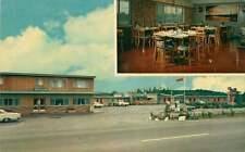 Roadside Postcard Bil-Mur Motel, Whitefish, Ontario, Canada - Gas Station