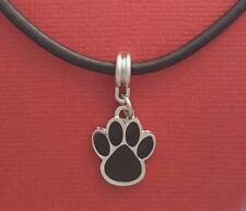 Paw Print Necklace Leather New Charm Pendant Animal Dog Cat love heart