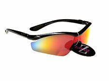 rayzor PRO UV400 NERO TIRO CON L' Arco sport occhiali da sole avvolgenti Rosso