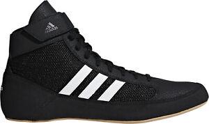 adidas Havoc Mens Wrestling Shoes Black White 3 Stripes Lightweight Combat Boots