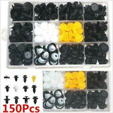 150Pcs Auto Car Body Plastic Push Pin Rivet Fastener Trim Panel Moulding Clips