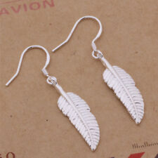 925 Sterling Silver Plated Feather Hook Earrings + Free Gift Bag.