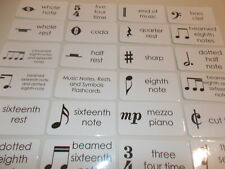 62 Advanced Music Notes Flash Cards.  Educational instrument playing flash cards
