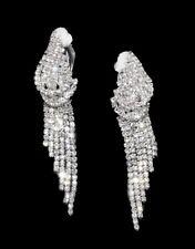 Boucles d'oreilles  Clips 6,5 cm Bijoux Strass Pour Soirée, Mariage