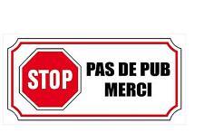AUTOCOLLANT PAS DE PUB PUBLICITE BOITE A LETTRES  X1 sticker  85mm