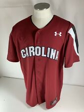 Under Armour South Carolina Gameocks Baseball Jersey Red Garnet Sewn Blank 2XL
