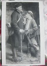 """CPA tableau Salon peinture 1906 Buland """"il n'y a plus d'enfant"""" Fumeur pipe"""