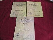 WW11 German Certificate for the Iron Cross Totenkopf