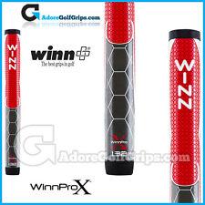 "WINN PRO X 1.32 ""JUMBO TONDA LITE Putter Grip-Rosso / Grigio / Bianco"