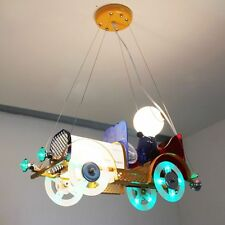 Vintage Bubble Car Kid's Bedroom LED Ceiling Pendant Lamp Boy Study Room Lights