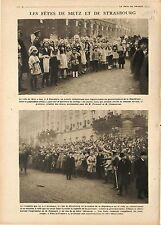 President Raymond Poincaré & Georges Clemenceau Metz Strasbourg France 1918 WWI
