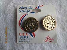 Vintage Usa Olympics Revere Pierced Earrings Fan Apparel & Souvenirs New Tag