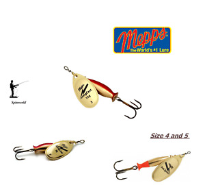 Mepps Long cast Gold spinner variety sizes - cover more water