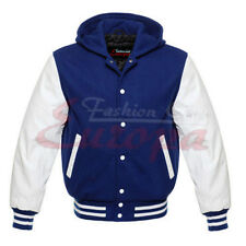 Varsity baseball Wool  Jacket with Leather Sleeves XS TO 4XL