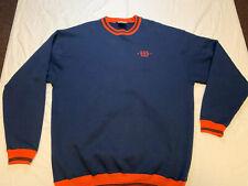 Vtg Wilson 80s 90s Blue Red Tennis Ringer Sweatshirt Crew Mens Xxl Rare Usa Made