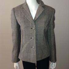 Carlisle Blazer Size 2 Womens Wool Houndstooth Button Up Jacket
