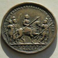 1702 Hungary Medal Joseph battle at Galicia bronze 32mm 12.78g Spanish Succesion
